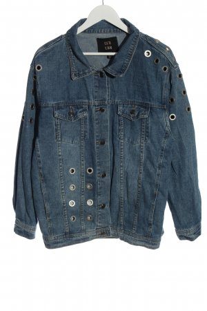 QED London Jeansjacke blau Casual-Look