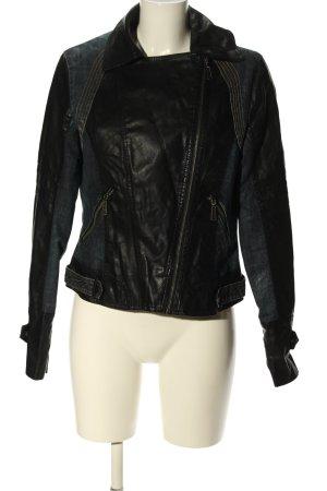 QED London Jeansjacke schwarz Casual-Look