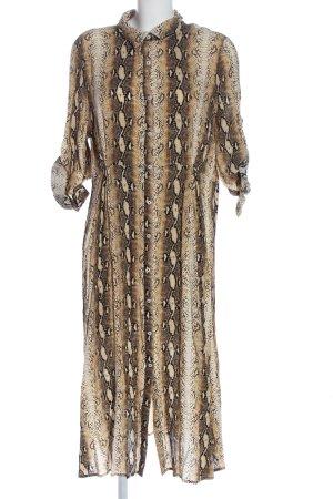 QED London Robe à manches longues imprimé allover style décontracté