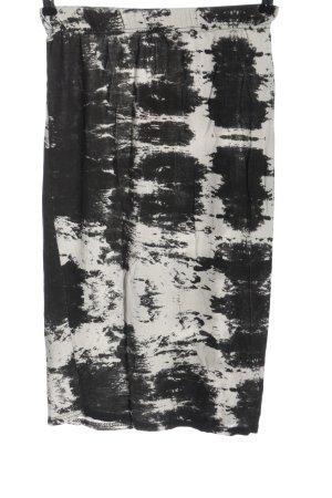 QED London Midirock schwarz-weiß Allover-Druck Casual-Look