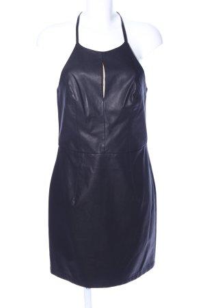 QED London Vestido de cuello Halter negro look casual