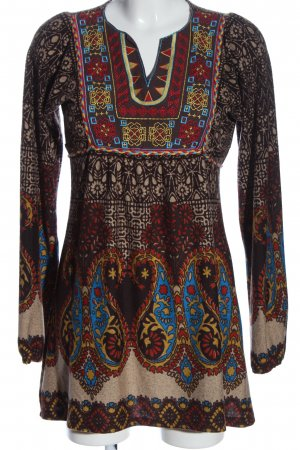 QED London Tunikabluse Allover-Druck Casual-Look