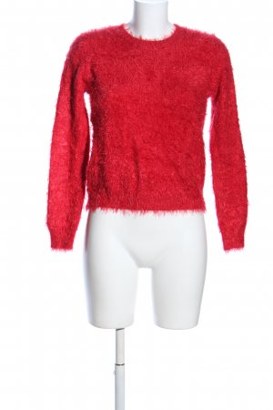 QED London Rundhalspullover rot Casual-Look