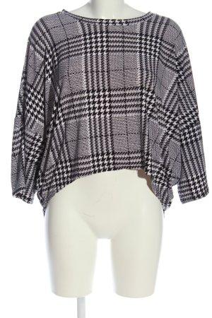 QED London Schlupf-Bluse schwarz-weiß Allover-Druck Business-Look