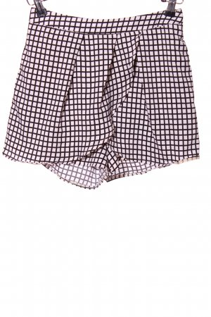 QED London Shorts weiß-schwarz Allover-Druck Casual-Look