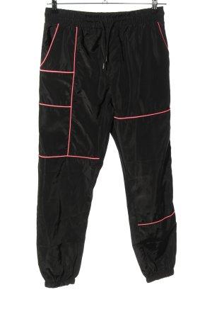 QED London Sporthose schwarz-pink sportlicher Stil