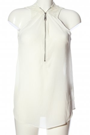 QED London Transparenz-Bluse weiß Casual-Look