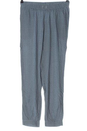Qiero Pantalone largo blu-bianco stampa integrale stile casual