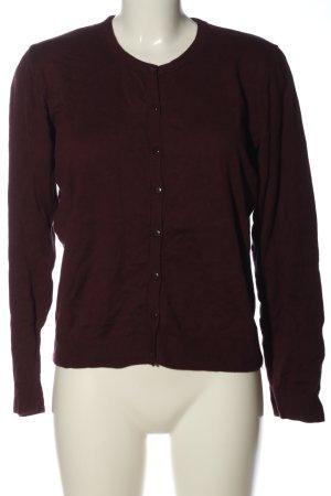 Qiero Cardigan rosso-marrone stile casual