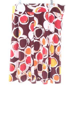Qiero Glockenrock abstraktes Muster Casual-Look