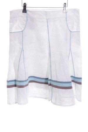 Qiero Godet Skirt striped pattern casual look