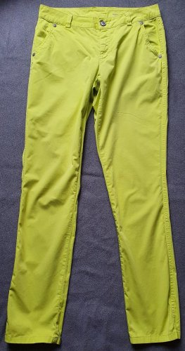 Qiero Stretch Trousers neon yellow cotton