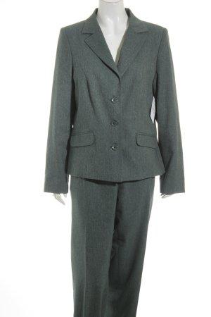 Qiero Traje de pantalón petróleo-gris claro moteado estilo «business»