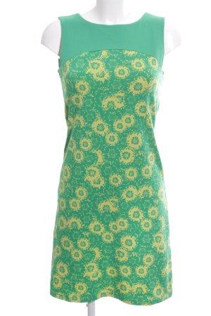 Qiero Jerseykleid grün-blassgelb Blumenmuster Street-Fashion-Look