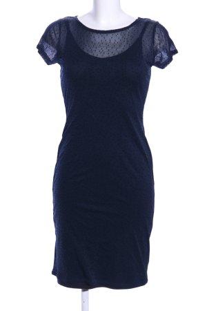 Qiero Kurzarmkleid blau Punktemuster Elegant