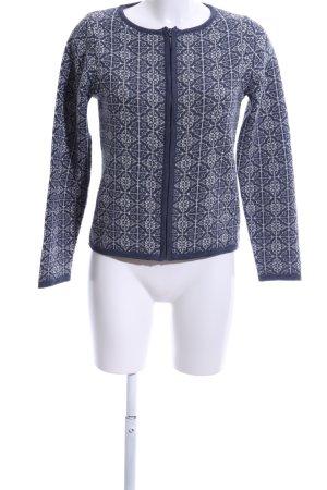 Qiero Kurzjacke blau-weiß grafisches Muster Casual-Look