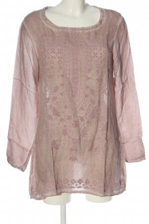Qiero Long Sleeve Blouse pink-nude mixed pattern casual look