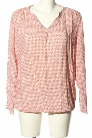Qiero Langarm-Bluse pink-creme Allover-Druck Casual-Look