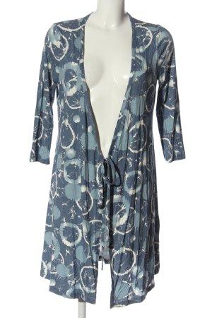 Qiero Longsleeve Dress blue-white allover print casual look