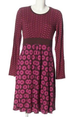 Qiero Abito a maniche lunghe marrone-rosa modello misto stile casual