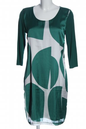 Qiero Langarmkleid grün-weiß Motivdruck Casual-Look