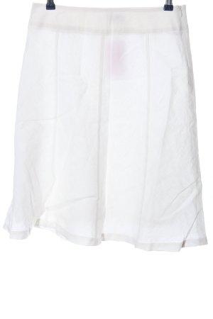 Qiero Gonna in lino bianco sporco stile casual