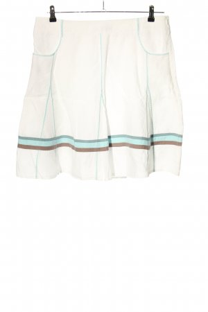 Qiero Miniskirt natural white-turquoise striped pattern casual look