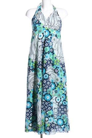 Qiero Robe dos-nu motif de fleur style décontracté