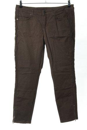 Qiero Pantalon cigarette brun style décontracté