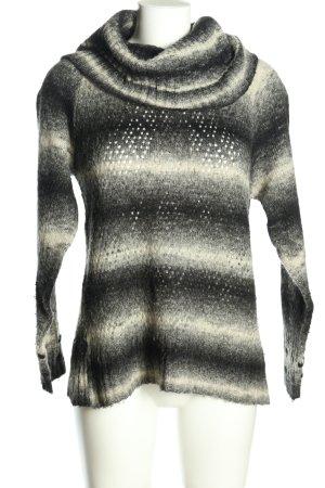 Qiero Turtleneck Sweater black-white striped pattern casual look