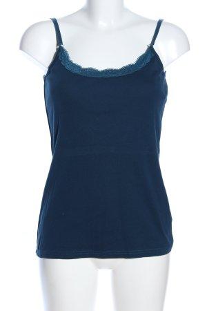 Qiero Spitzentop blau Casual-Look