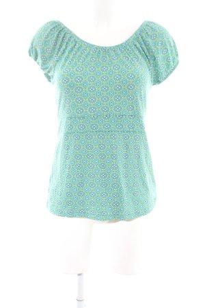 Qiero T-Shirt türkis-grün Allover-Druck Casual-Look