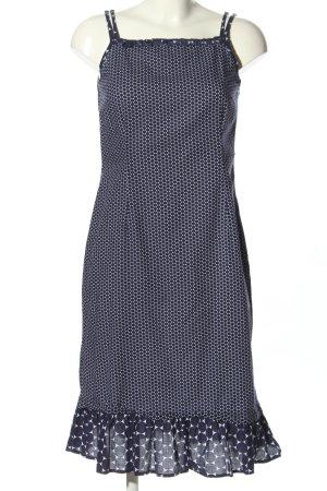 Qiero Trägerkleid blau-weiß Allover-Druck Casual-Look