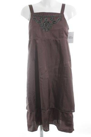 Qiero Trägerkleid graulila-schwarz Perlenverzierung