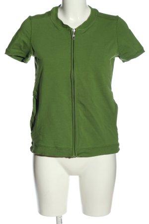 Qiero Cardigan à manches courtes vert style décontracté