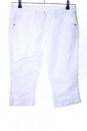 QS by s.Oliver 3/4 Length Trousers white casual look