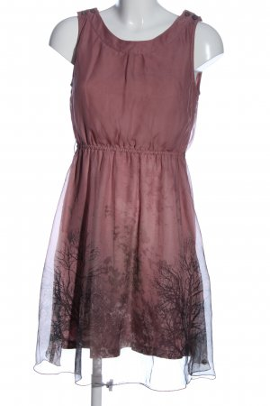 QS by s.Oliver A-Linien Kleid pink Motivdruck Casual-Look