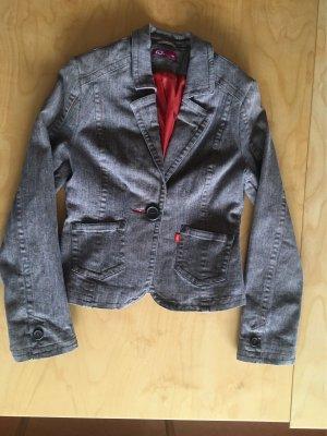 QS by s.Oliver braun-rot Nadelstreifen Jeans Blazer 36/38