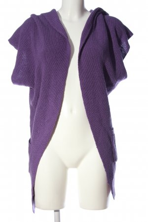 QS by s.Oliver Cardigan lila Zopfmuster Casual-Look