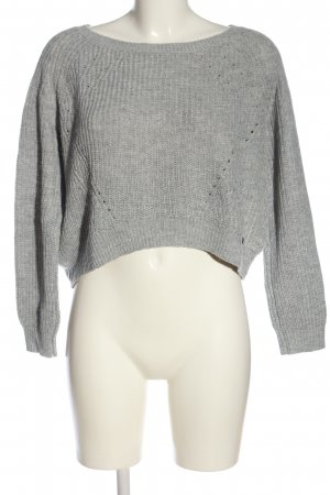 QS by s.Oliver Cropped Pullover hellgrau meliert Casual-Look