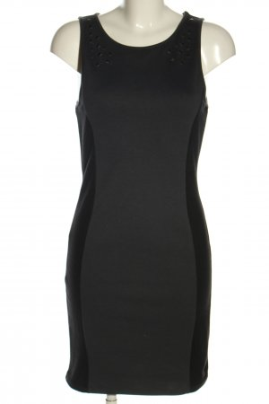 QS by s.Oliver Cut-Out-Kleid schwarz-hellgrau Casual-Look
