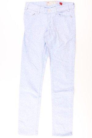 QS by s.Oliver Five-Pocket-Hose Größe 36 blau aus Baumwolle