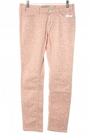 QS by s.Oliver Five-Pocket Trousers pink-mauve animal pattern