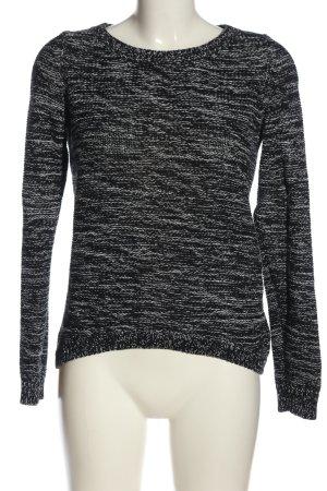 QS by s.Oliver Gehaakte trui wit-zwart gestreept patroon casual uitstraling