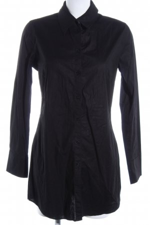 QS by s.Oliver Hemd-Bluse schwarz Business-Look
