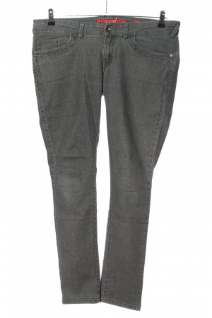 QS by s.Oliver Hüftjeans hellgrau Casual-Look