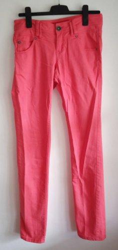 QS by s.Oliver Jeansy z prostymi nogawkami jasnoczerwony-czerwony Bawełna