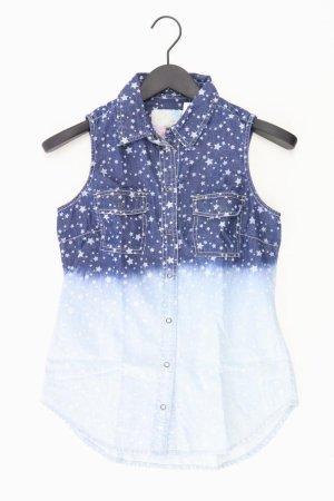 QS by s.Oliver Denim Blouse blue-neon blue-dark blue-azure cotton