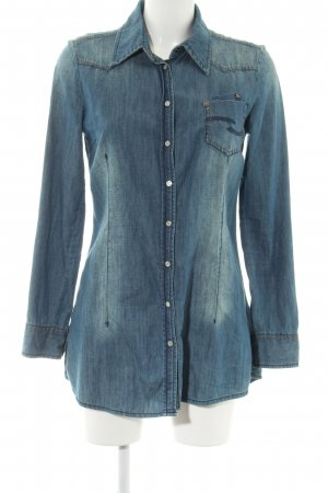 QS by s.Oliver Jeanshemd blau Casual-Look