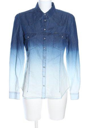 QS by s.Oliver Chemise en jean bleu gradient de couleur style décontracté